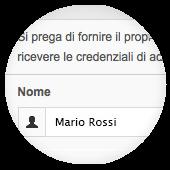 Accesso via email - Passo 1